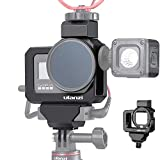 Ulanzi G8-5 Professional CNC Vlog Housing for GoPro Hero8   Dual Cold Shoe Mounts with Audio Mic Adapter Cage