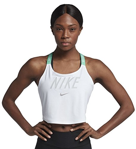 NIKE Womens Elastika GRX VNR2 Tank Top White/Light Menta/Platinum 898253-100 Size ()