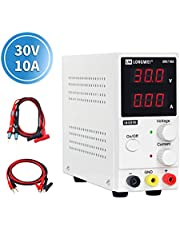 DC Power Supply Variable,0-30 V / 0-10 A LW-K3010D Adjustable Switching Regulated Power Supply Digital,with Alligator Leads US Power Cord Used for Spectrophotometer and lab Equipment Repair