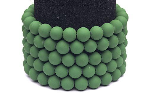 Frosted glass beads moss green rubber-tone beads 8mm round Sold per pkg of 3x32inch (336 BEADS)