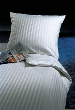 Parure de lit Bandes de 20/mm avec fermeture h/ôtel 100/% coton Taie doreiller Housse de couette 100 /% coton wei/ß 40 x 40 cm
