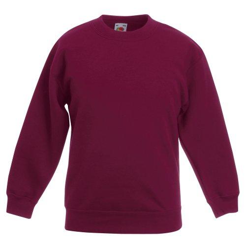 Fruit Of The Loom Classic Sweatshirt - Fruit of the Loom Kids Big Girls Classic 80/20 Set-In Sweatshirt (7-8 Years) (Burgundy)