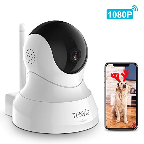 Pet Camera - TENVIS 1080P FHD Wireless Security Camera, Pet Monitor Camera with Night Vision, 2-Way Audio, App, Indoor Surveillance Camera Baby Monitor for Phone