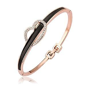 Vollter 18 K chapado en oro ideal para regalo 19 K Jewellery carcasa pulsera de cadena simple casual para rosa Golden Diseño de chica con