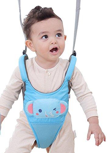 Zicac Toddler Cute Animals Ultra Comfy Mesh Safety Harness Leash Adjustable Baby Walker Strap Belt (Blue) (Baby Walker Leash)