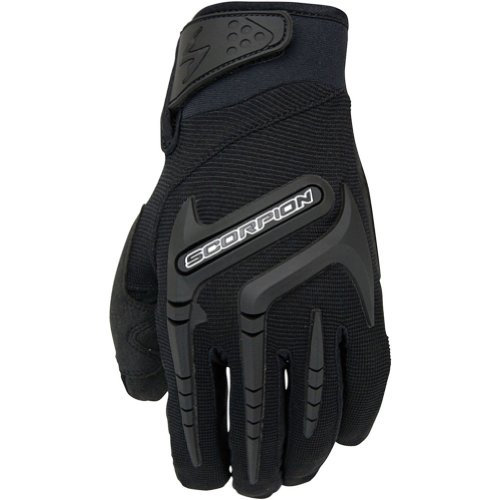 (Scorpion Skrub Men's Textile Street Bike Racing Motorcycle Gloves - Black / Large)