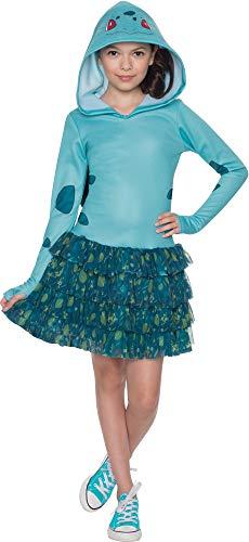 Rubie's Costume Pokemon Bulbasaur Child Hooded Costume Dress Costume, Medium -