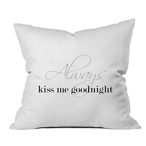 Oh, Susannah Always Kiss Me Goodnight 18x18 Inch Throw Pillow Cover Birthday Gifts for Her]()