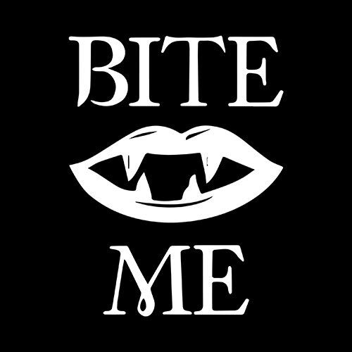 10.4CM13.6CM BITE ME Vampire's Kiss Lips Car Stickers Motorcycle decals Car Body Window Stickers Car Styling Full Body (White, 1pcs)