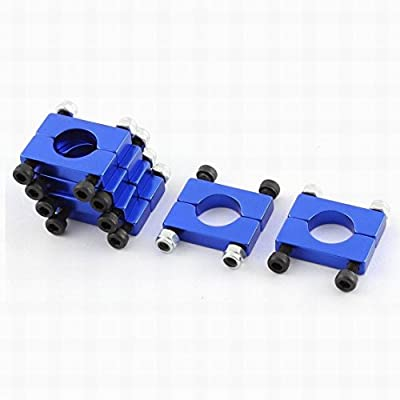 Ucland 6Pcs 16mm Clamp Airplane Blue Tube Clip for Quadcopter Carbon Tube