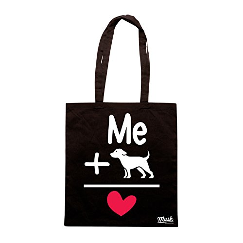 Borsa I LOVE MY DOG - Nera - MUSH by Mush Dress Your Style