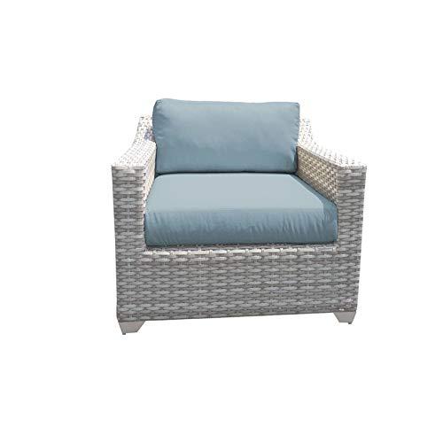 TK Classics Fairmont Outdoor Wicker Patio Club Chair in Spa