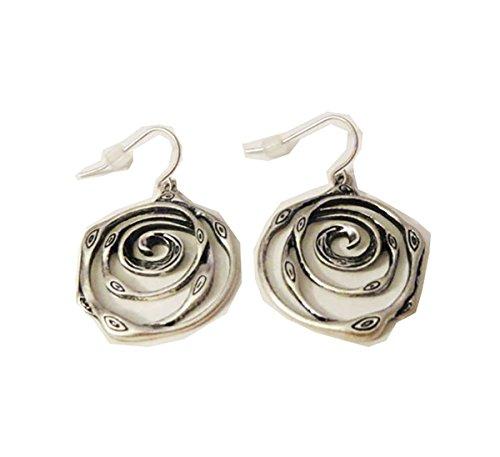 (Premier Designs Jewelry Silver Swirl Earrings RV$23)
