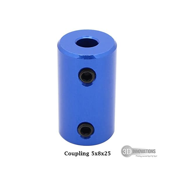3D Innovations CHPSS536-2 Blue Aluminium Alloy Fixed Coupling/Motor Coupling/Shaft Coupler 5mm to 8mm for 3D Printer and CNC (Quantity: 1 Pc)