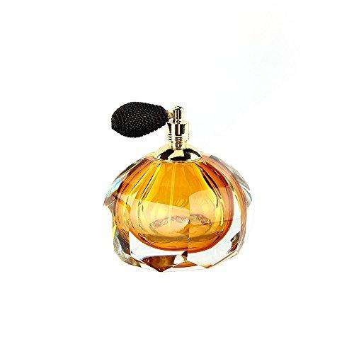 Ballerina Old Fashion Style Perfume Bottle with Black Mesh Atomizer Hand Blown Art Glass