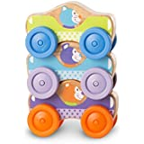 Melissa and Doug First Play Animal Stacking Cars, Multicolor, One Size