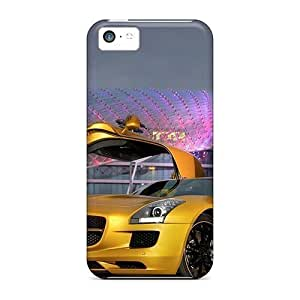 Durable Defender Cases For Iphone 5c Covers(2010 Mercedes Benz Sls Amg Desert Gold 5)