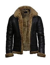BT-Fashion Men's Ginger Style 2 Bomber Body Fitted Biker Real Sheepskin Leather Jacket