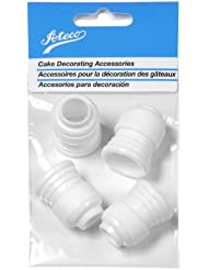 Ateco 398 Standard Plastic Couplers, for Use With Ateco Cake Decorating Tubes and Bags, Set of 4