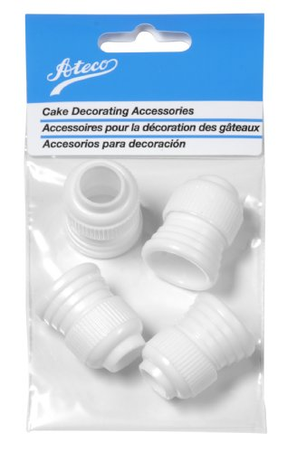 (Ateco 398 Standard Plastic Couplers, for Use Cake Decorating Tubes and Bags, Set of 4)
