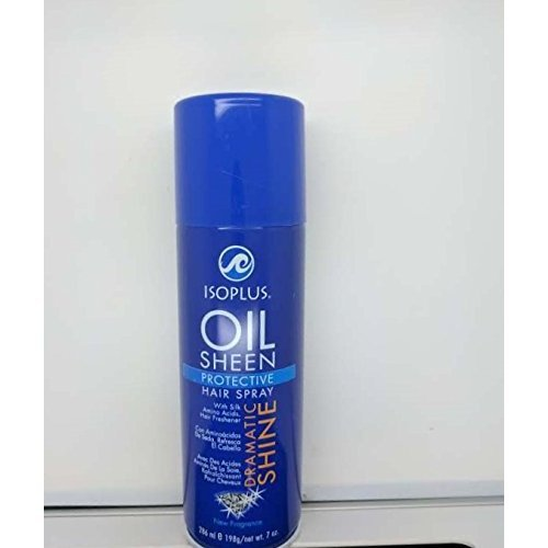ISOPLUS OIL SHEEN Protective Hair Spray Dramatic Shine 7.oz