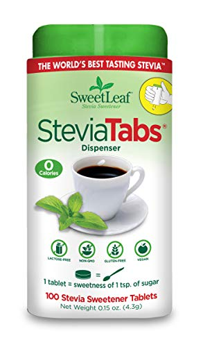 SweetLeaf SteviaTabs Sweetener, 100 Tabs