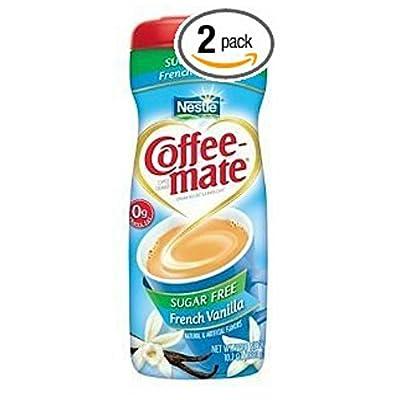 Coffee Mate French Vanilla Sugar Free Coffee Creamer 10.2 Oz (Pack of 2)