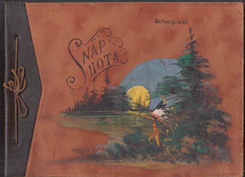 Watkins Glen NY Snap Shots unused hand-painted album ca 1940s Indian-motif ()