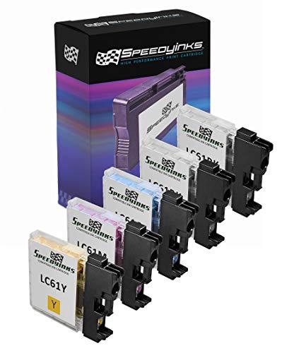 ible LC61 Set of 5 Ink Cartridges 2x LC61BK, 1x LC61C, 1x LC61M, 1x LC61Y for use in DCP-165c, DCP-375CW, DCP-385CW, DCP-395CN, DCP-585CW, DCP-J125, DCP-J140W, MFC-250C, MFC-255CW, MFC-290C, MFC-295CN, MFC-490CW, MFC-495CW, MFC-5490CN, MFC-5895cw, MFC-790CW, MFC-795CW, MFC-990CW, MFC-J220, MFC-J265W, MFC-J270W, MFC-J410W, MFC-J415W, MFC-J615W, & MFC-J630W ()