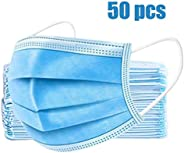 TATUBE 50Pcs Mouth, Disposable Face Mask for Unisex Outdoor, Protection Anti Dust Mask
