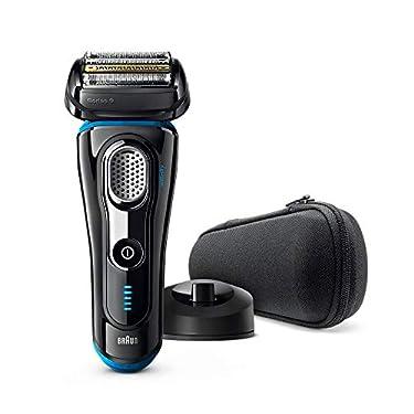 Braun-Series-9-9242-s-Afeitadora-Electrica-Hombre-Afeitadora-Barba-Con-Base-De-Carga-Y-Funda-Para-Viaje-NegroAzul-Eloxal