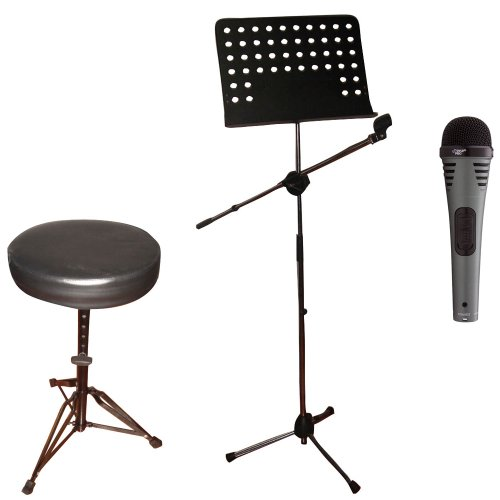 Pyle Mic Stand Stool Package