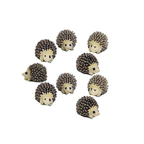 Windspeed 10pcs Miniature Hedgehog Gardening Potted Decoration Micro Landscape Accessories