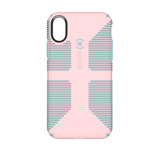 Speck Products CandyShell Grip Cell Phone Case for iPhone X - Quartz Pink/River Blue (Case Phone Blue Pink)