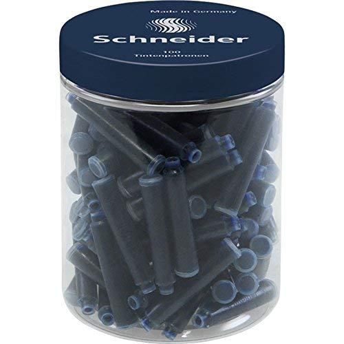 シュナイダー インクカートリッジ 欧州共通規格 100本 ミッドナイトブルー BS6823