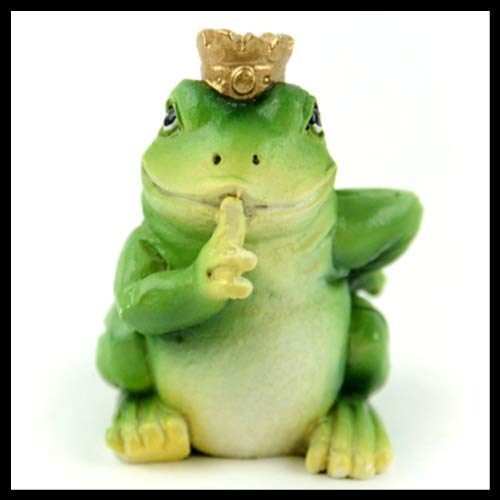 ShopForAllYou Figurines and Statues Fairy Garden Fun Frog Prince Miniature - Statue Frog Prince