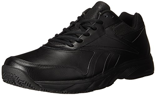 Men Walking Shoe (Reebok Men's Work N Cushion 2.0 Walking Shoe, Black/Black, 13 4E US)