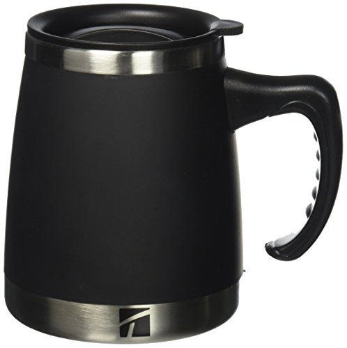 Trudeau Maison Umbria Desk Mug, 15 oz, Black