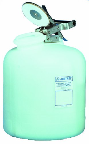 Justrite 12762 2 Gallon Wide Mouth Acid Container 12 Diameter x 14-3