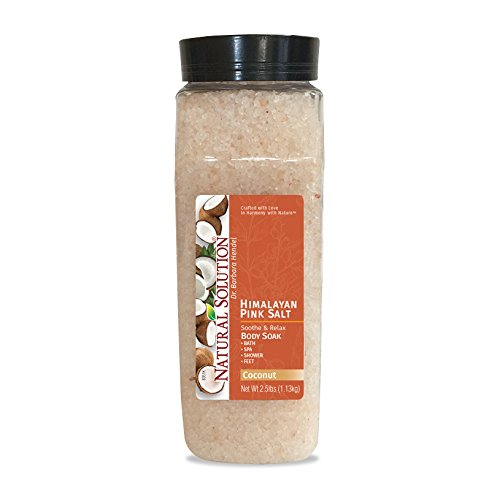 Coconut Sothee and Relax Himalayan pink bath salt for Spa, Shower & Feet 2.5 lb. Jar by Natural Solution Pink Salt Company (Spa Solutions Care)