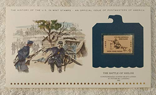 The Battle of Shiloh - Confederates Suffer Heavy Losses at Pittsburgh Landing - Postage Stamp (1962) & Art Panel - History of the United States: an official issue of Postmasters of America - Limited Edition, 1979 - Civil War