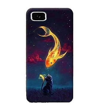 Prevoa BQ Aquaris M 2017 - Colorful Silicona Funda Case Protictive para BQ Aquaris M 2017 Smartphone - 1