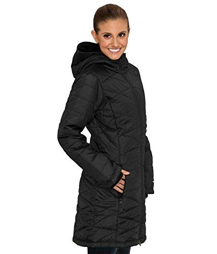 Columbia Mujer Luz de la mañana Omni calor largo abrigo chaqueta Puffer Negro