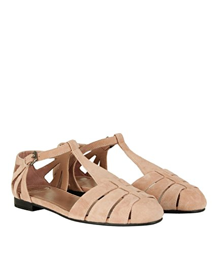 Dames Chaussures Sandales Churchs Daim Arc-en-classique Printemps-été 2018 Rose Foncé