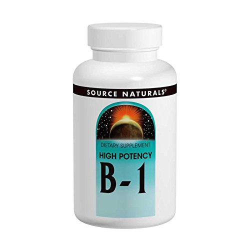 100% Tabs Natural 500 (Source Naturals High Potency B-1 500 mg 100 Tabs)