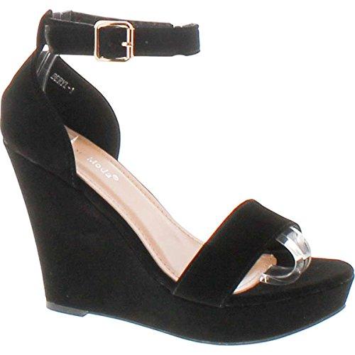 Wedge Ankle Strap Platform Sandal - 5
