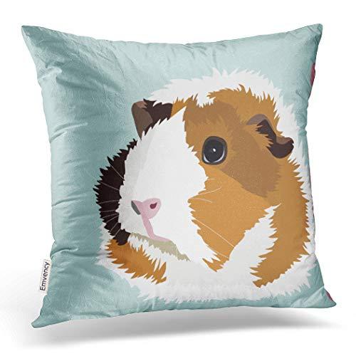 Mediterranean Poster Bed - Emvency Throw Pillow Cover Retro Guinea Pig 'Elsie' Cushion Decorative Pillow Case Vintage Home Decor Square 18 x 18 Inch Cushion Pillowcase