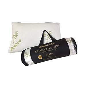 regal comfort bamboo firm memory foam bed pillow queen home kitchen. Black Bedroom Furniture Sets. Home Design Ideas