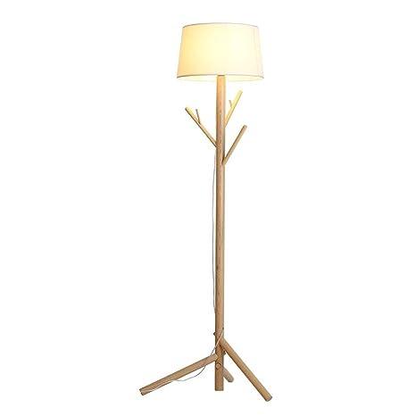 Nordic Lámpara de pie de madera, sala de estar, dormitorio ...