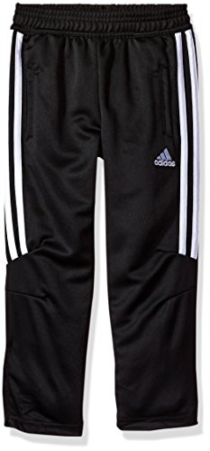 (adidas Boys' Little' Tricot Pant, Black Half, 7)